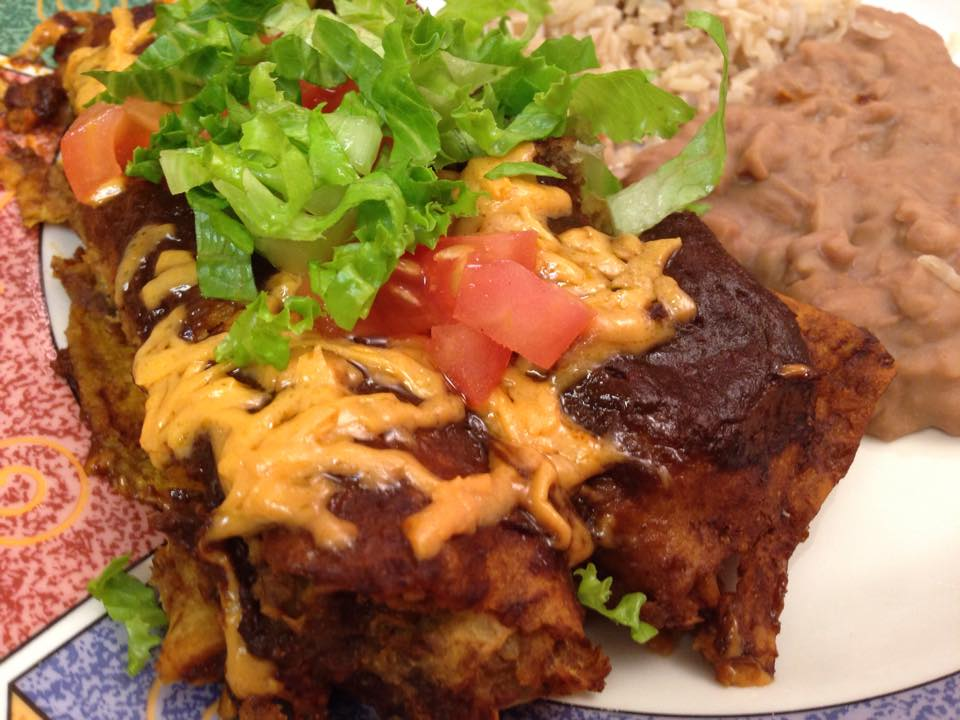 Ancho Chili Enchiladas by Chef Johnna Gale