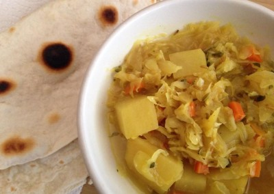 Cabbage Curry Soup