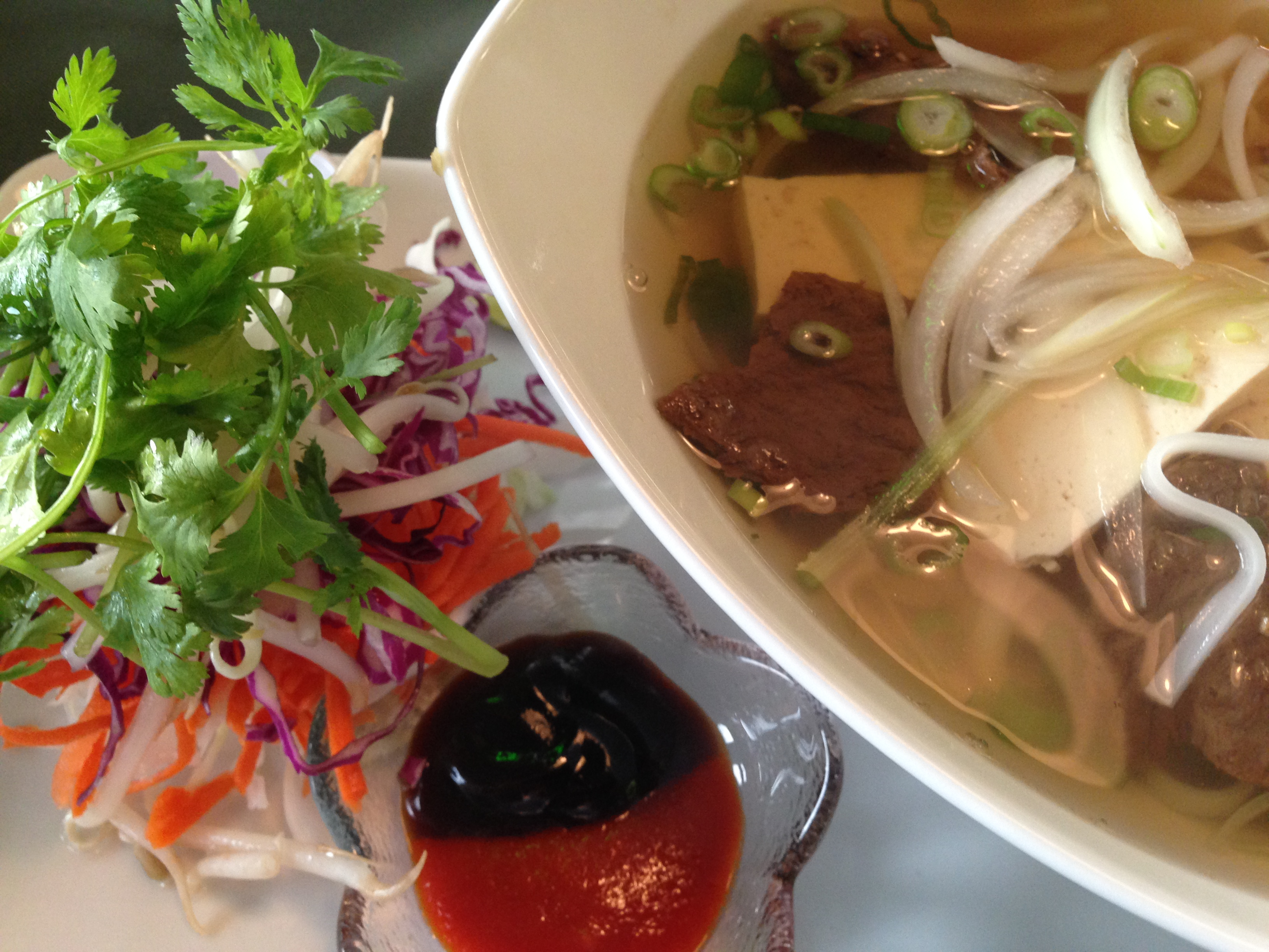 Vegan Pho restaurant dinner by Chef Johnna Gale