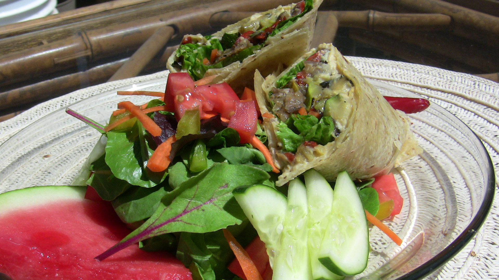 Roasted Veggie Wrap by Chef Johnna Gale