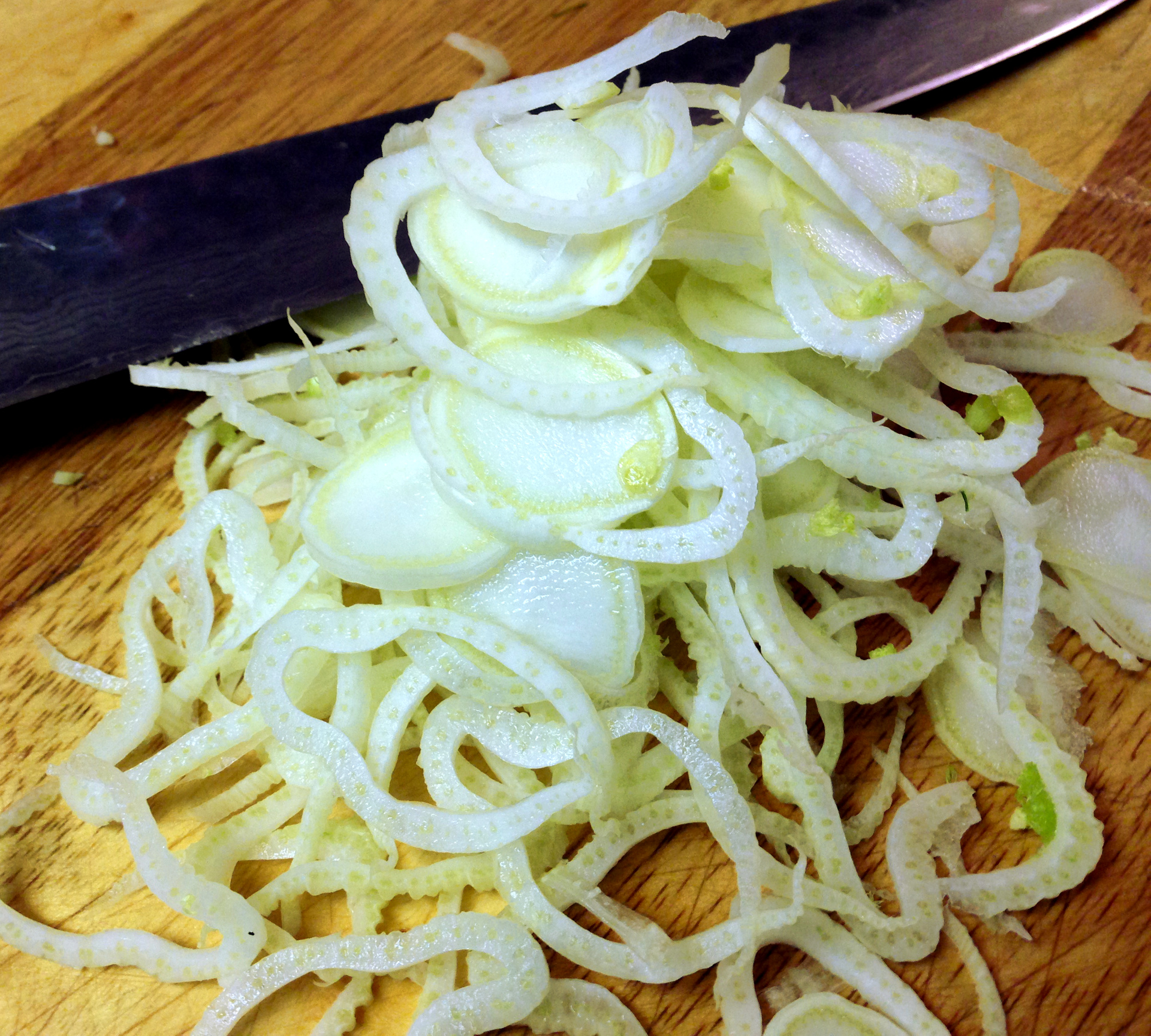 Sliced Fennel by Chef Johnna Gale