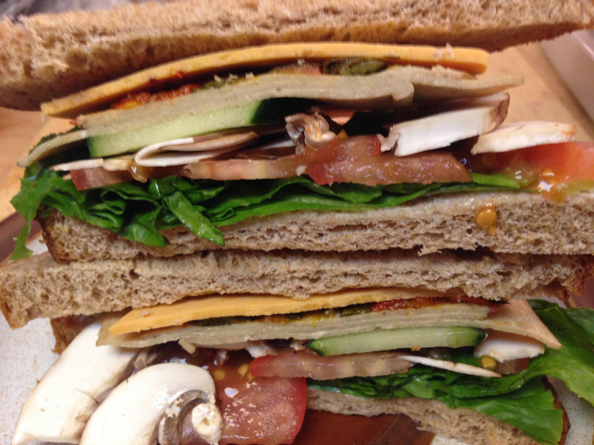 Garden Veggie Sandwich by Chef Johnna Gale